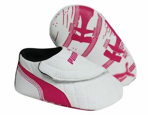 Puma Drift Cat 6 LW Crib Soft Sole White Synthetic Baby Trainers 305184 03 DD23