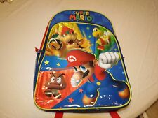 RARE Super Mario bookbag backpack NEW Nintendo book bag back pack Character NWT
