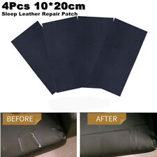 4 Pcs Sheep Leather Car Seat Repair Patch & Vinyl Adhesive 10x20cm Litchi Stria (Fits: General)