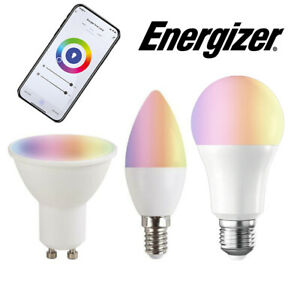 Energizer Smart Home Bulbs 5w / 9w Colour Changing Dimmable Alexa / Google Home