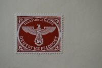 Stamp Nazi Eagle Swastika Germany WWII Hitler Era FELDPOST/FIELDPOST 1944 Brown