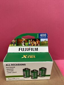 3Pack Fuji Superia X-TRA CH ISO 400 35mm Color Film Exp 07/2023 (2485)
