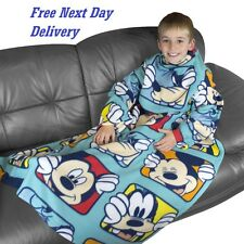 Disney Mickey Mouse Snuggle Wrap Fleece Blanket Boys Girls Christmas Gift blue