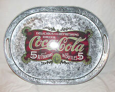 NWOT Coca-Cola Coke Oval Tin Tray, 2001, Vintage-Inspired Advertising Design