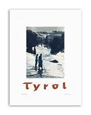 TYROL AUSTRIA SKI WINTER ALPINE SNOW Poster Travel Sport Canvas art Prints