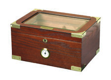 Milano Elegant 75 Cigar Humidor by Quality Importers with Beveled Glass Top