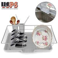 Kitchen Dish Cup Drying Rack Drainer Dryer Tray Cutlery Holder Organizer Home