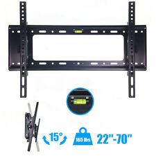 "Flat TV Wall Mount Bracket 15°Tilt Swivel For 27""32""37""42""47""50""55""60""65""70 inch"