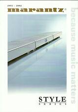 Marantz HiFi Katalog Prospekt 01/02 SR110 CD110 MD110 DR110 SR2100 PS2100 DR2100