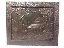 Old metal panel - Australian Scene - THE BUSH HUT