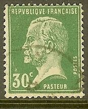 """FRANCE TIMBRE STAMP N°174 """"TYPE PASTEUR, 30 C VERT"""" OBLITERE TB"""