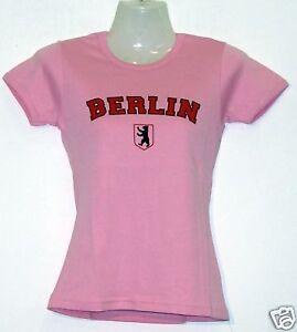 Girlie T-Shirt * Berlin mit Logo Rosa S - XXL