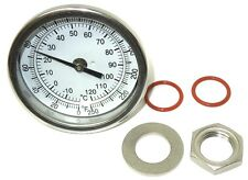 "3"" WELDLESS THERMOMETER KIT 4"" STEM 0-250F HOME BREWING KETTLE MASH NEW <557KIT"