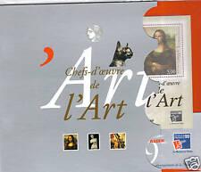 bloc feuillet FRANCE chefs d'oeuvre de l'art philexF 99