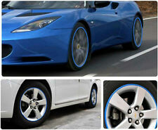 16x Blue Auto Car Wheel Tire Hub Rim Edge Protector 8M Anti Scratch Rubber Strip