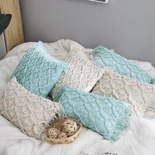 Sofa Bed Throw Cushion Pillow Fashion Home Office Decor Handmade Woven Tassel