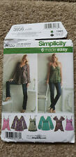 Simplicity  Pattern 3956 Misses Top in 6 Styles size D5 (4,6,8,10,12)(Euro 30-38