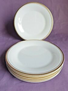 Vintage Royal Doulton Fine Bone China 'Gold Concord' 17cm Side Plates x 6