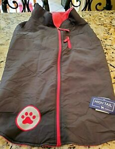 High Tail Dog Vest Coat Water Resistant Fleece Lined XXL Gray Pink $32