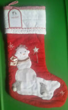 Pottery Barn Kids Snow Girl Quilted Christmas Stocking NEW