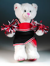 "New Teddy Bear cheerleading clothes red/black fits 14""-18"" bear"