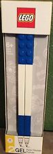 Lego Set of 2 GEL Pens BLUE with Building Bricks M 0.7mm NEW