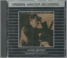 Arensky, Anton Y.Svetlanov USSR S. O. Syms.1 & 2 MFSL Silver (Alu) CD RAR OOP