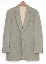 Alexandre Wool Tweed Suit 42L 36x30 Light Brown Herringbone Weave Pants Jacket