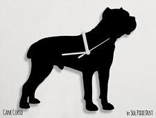 Cane Corso Dog Silhouette - Wall Clock