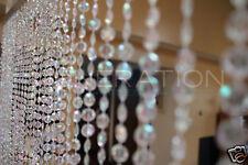 Doorway Beaded Curtains Iridescent Diamond Cut Crystal