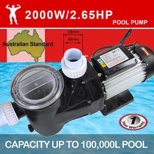 TDKMAN 2000W Swimming Pool Pump Spa Water Electric Self Priming Flow 33600L/H