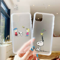 For iPhone 11 Pro XS MAX XR 7 8+ Cute Cartoon snoopy clear shockproof phone Case
