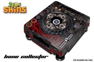 Skin Decal Sticker Wrap for Pioneer CDJ 1000 Turntable DJ Mixer Pro Audio BONES