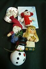 Five Christmas Pins/Brooches