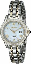 Seiko Women's Diamond-Accented Two-Tone Stainless Steel Watch # SUT170