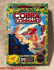 COBRA COMMAND (Nintendo NES, 1988) Video Game Complete CIB w/ Custom Box MINT