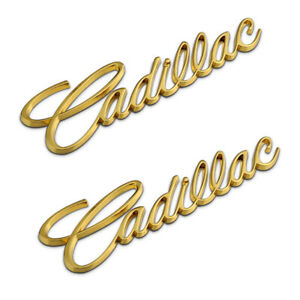 2x Gold Emblem Door Rear Fender Badge Sticker for Cadillac SRX CTS ATS ESCALADE