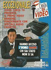 X2878 Canta tu video karaoke - Giochi Preziosi - Pubblicità 1994 - Advertising