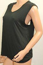 VICTORIA'S SECRET Open Back T-Shirt Color Black NWT Medium Sleeveless Very Soft