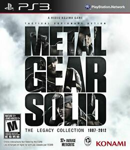 Metal Gear Solid The Legacy Collection - Sony Playstation 3 PS3 8 Games in One