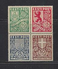 ESTONIA - B44a - BLOCK OF 4 -  MNH - 1939 SEMI POSTAL ISSUE