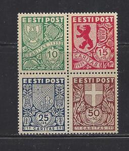ESTONIA - B44a - BLOCK OF 4 -  MNH - 1939 SEMI POSTAL ISSUE