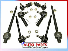 4 INNER & OUTER TIE RODS 4 STABILIZER SWAY BAR LINK NISSAN SENTRA 91 92 93 94 NX