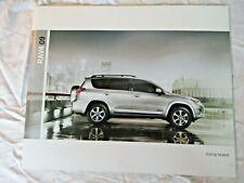 Toyota  Rav 4 2009 Dealer's Brochure Mint Condition