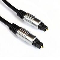 2m Toslink Kabel Optisch | Audio LWL SPDIF Digital | Metallplug zwei Meter