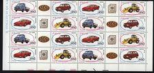 ITALIA 1986 AUTOVEICOLI QUARTINA ( 4 BLOCCHI )  NUOVA PERFETTA ** (1A)