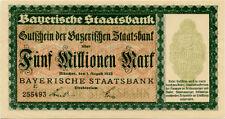 Germany 5.000.000 Mark 1923 Munchen 255493 black