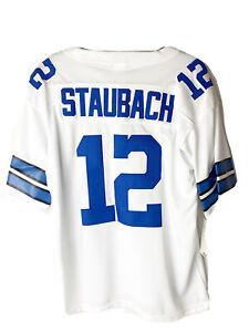 Roger Staubach Dallas Cowboys Sz 48 NFL Throwback Mitchell & Ness Jersey NWT!!