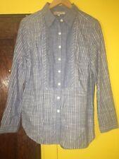 Jones New York Sport Women's Slim Fit Casual Blue Button Down Dress Shirt Sz L
