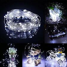 Solar Copper Wire Night Lights Fairy String Twinkle Lamp Outdoor Garden Decor